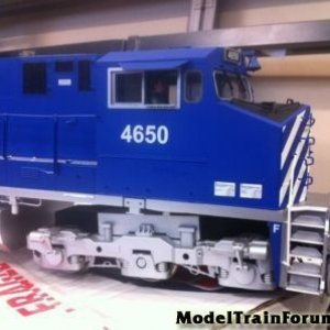Aristocraft British Columbia Railways, Blue/Silver Dash 9, Extremely Rare-Limited Run