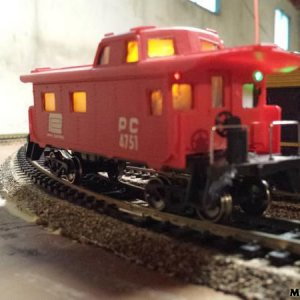 Lighted Ho Caboose - Home Made