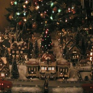 Current Christmas Village Front Closeup